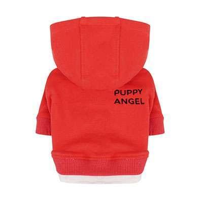 Hunde-Hoodie Angels Basic - Red