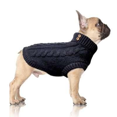 Hundepullover Alister - Navyblau - Französische Bulldogge / Mops