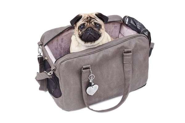 Hundetasche St. Tropez Jumbo Size XL - Greyge Nubuk