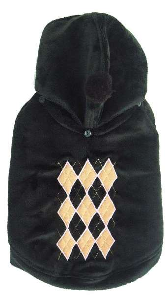 Mopsmantel Super Soft Argyle Black