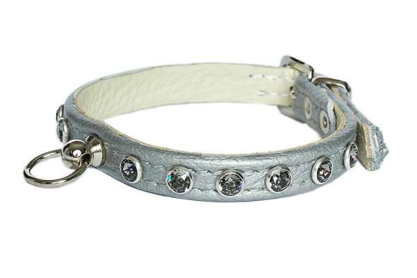 Hundehalsband Little Paris - Silver-Smoky