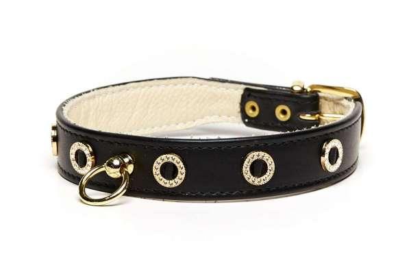 Hundehalsband Riva - Black