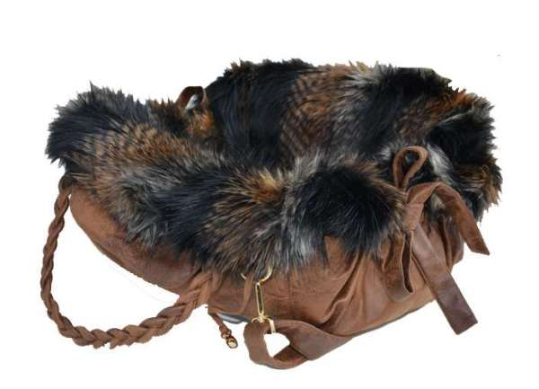 Designer Hundetasche Ampezzo Brown 3 in 1 - Brown Fox