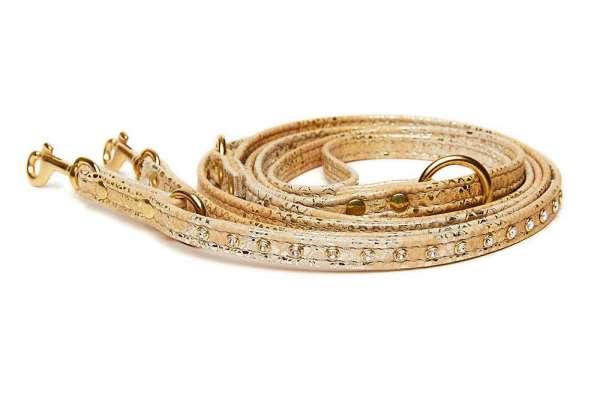 Verstellbare Hundeleine Vintage-Gold