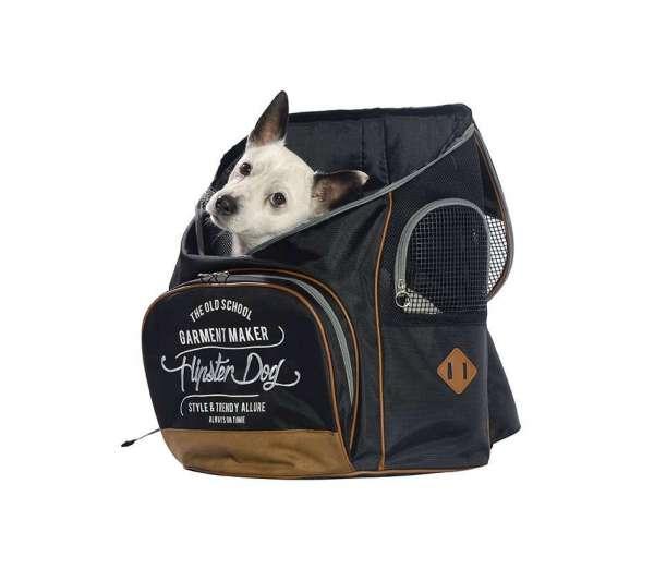 Hunderucksack Hipster Dog - Black