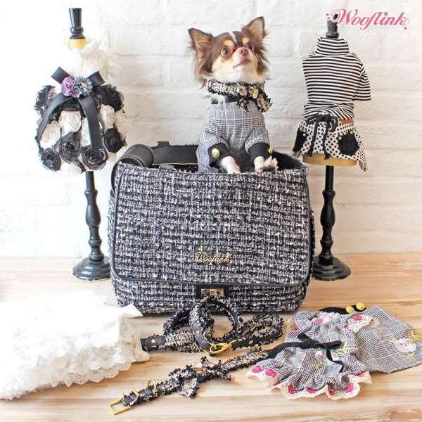 Hundetasche Tweed Coco - Black