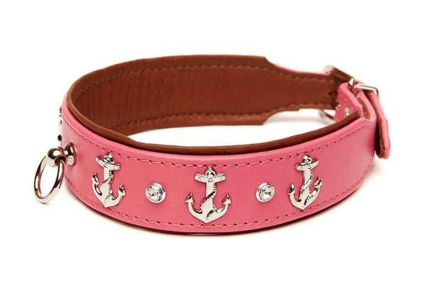 Hundehalsband Beach Dog - Pink-Rehbraun