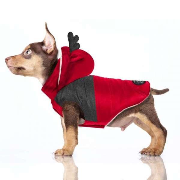 Milk & Pepper Hundemantel Blitzen - Rot
