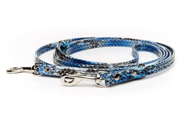 Verstellbare Führleine - Blue Snake