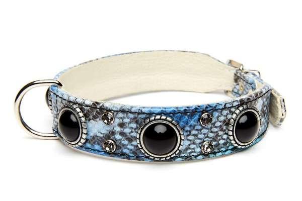 Hundehalsband Palma - Blue Snake
