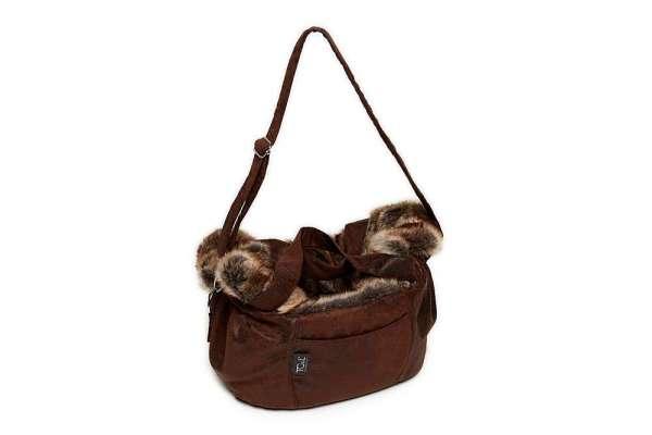 TG&L Lillibed Designer Hundetasche Monte Carlo - Vintage Braun-Chinchilla Braun