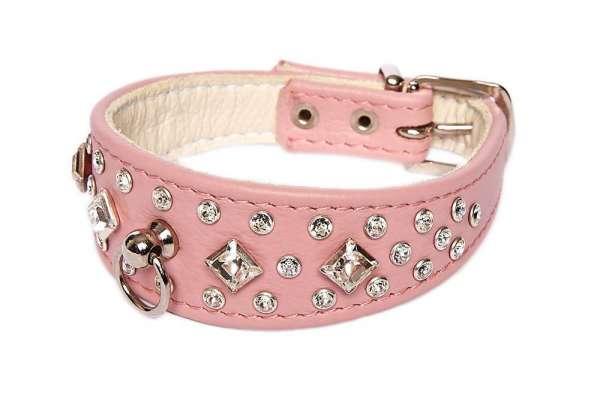 Hundehalsband Bellagio - Rosa