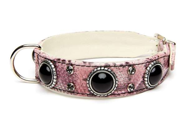 Hundehalsband Palma - Pink Snake