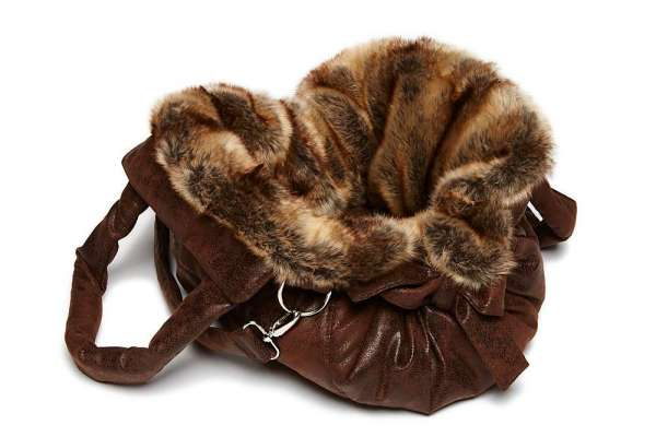 TG&L Hundetasche Bellagio - Chinchilla Braun-Vintage Brown
