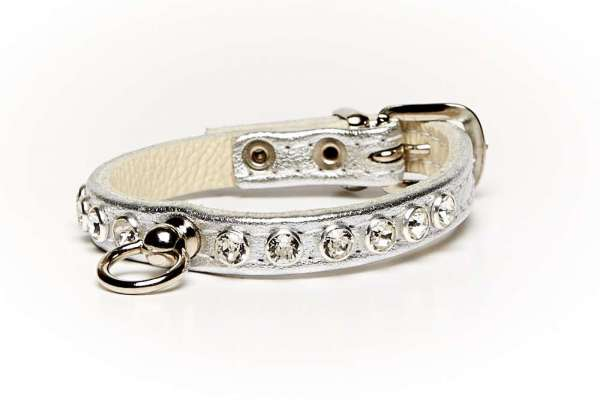 Hundehalsband Little Paris - Silber