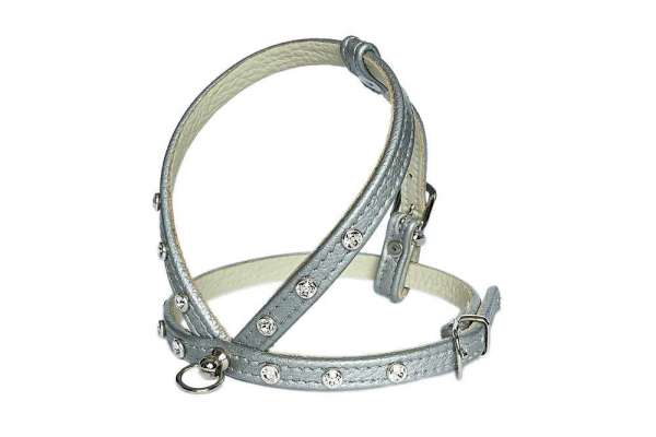 Hundegeschirr Shiny Petit - Silver-Clear
