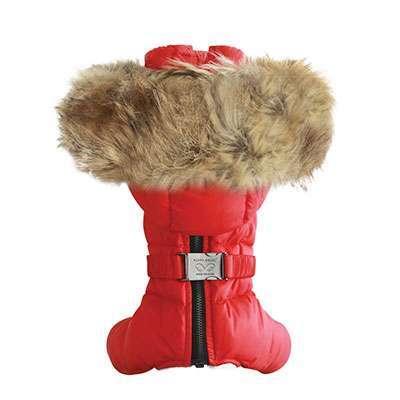 Hunde-Overall St. Moritz - Rot