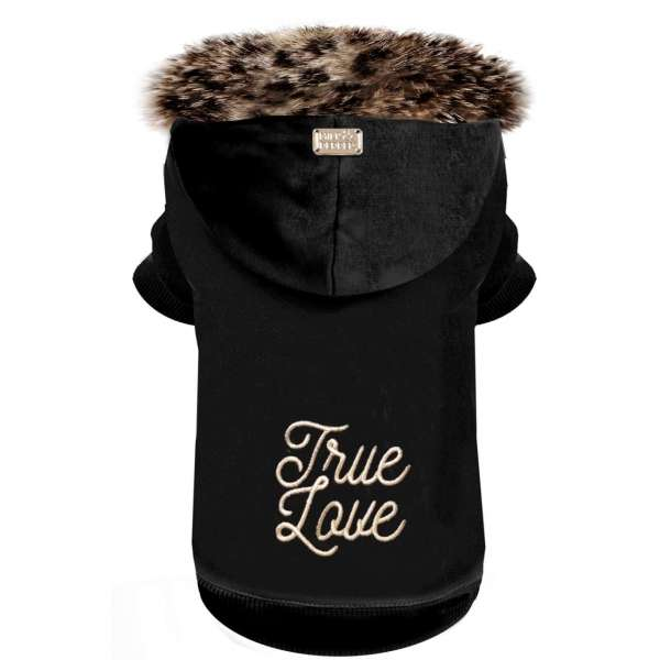Milk & Pepper Hunde-Sweater True Love - Black