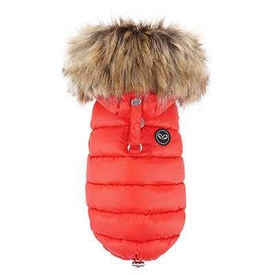 Hundemantel Winterzauber - Rot