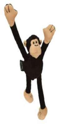 Hundespielzeug Crazy Monkey Black