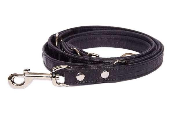 Verstellbare Führleine Croc - Black