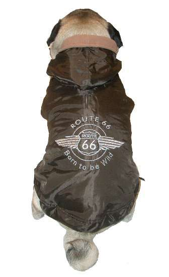 Hundemantel Route 66 Choco