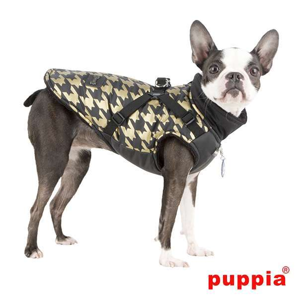 Puppia Hundemantel Dogstooth - Black