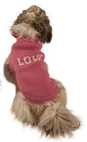 Hundepullover Love Rosa