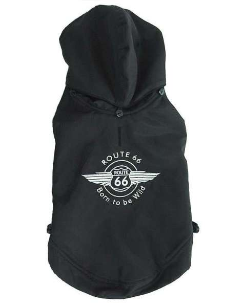 Hundemantel Route 66 Black