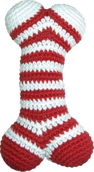 Spielzeugknochen Rot-Weiss