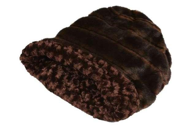 Hundedecke Cuddle Cup Bed Chocolate Nerzoptik