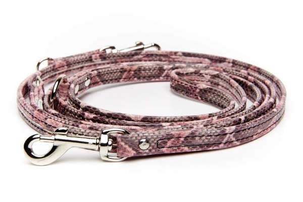 Verstellbare Führleine - Pink Snake