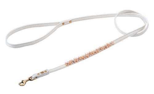 Hundeleine Magic Pearls Rosenquarz