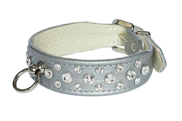 Hundehalsband Miami - Silver-Clear