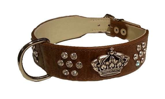 Hundehalsband Majestic Glam - Brown