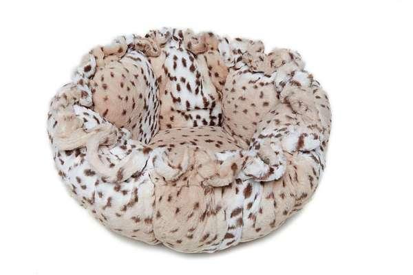 Hundebett Cuddle Pod Snow Leopard