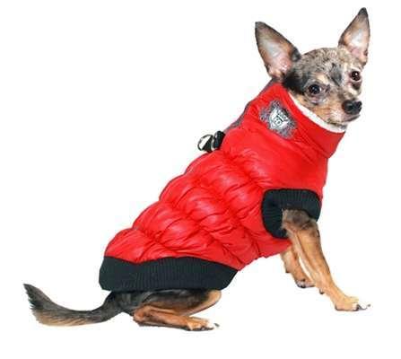 Hunde-Skiweste Apres Ski Rot