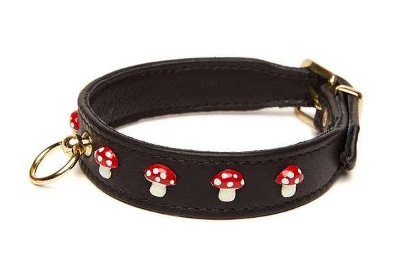 Elchleder Hundehalsband Glückspilz