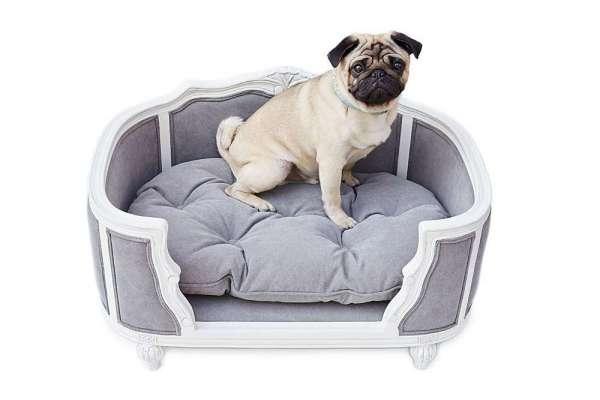 Hundesofa Arthur - Stonewashed Grey
