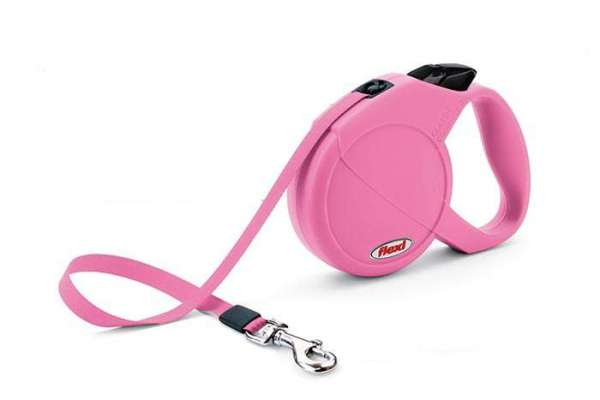 Flexi Leine Pink bis 25kg mit Gurtband
