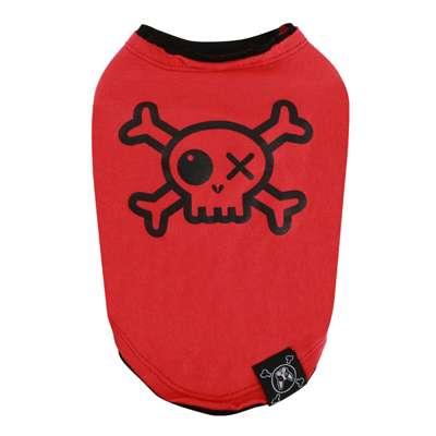 Hunde-Shirt Pirate - Rot