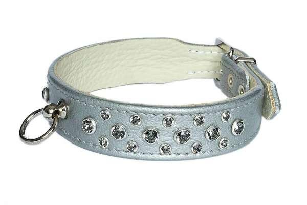 Hundehalsband Miami - Silver-Smoky