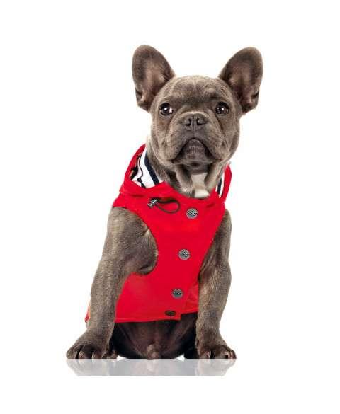 Hunde-Regenmantel Babord - Rot