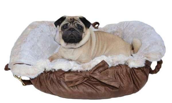 Designer Hundetasche My Love Deluxe - Brown-Beige