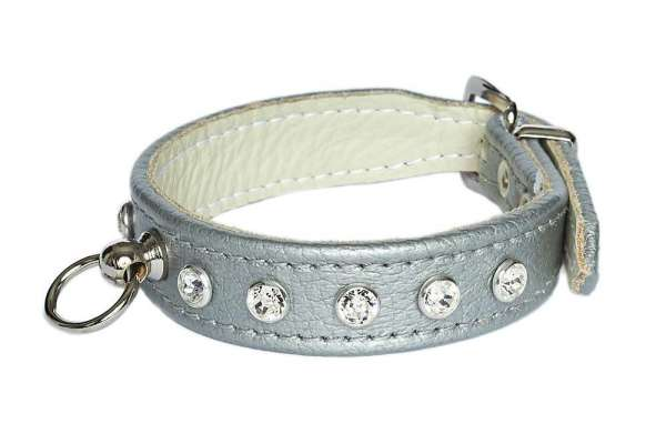 Hundehalsband Little Paris Deluxe - Silver-Clear