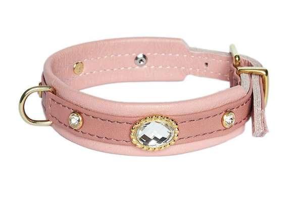 Hundehalsband Mini Venice - Altrosa-Gold