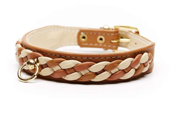 Hundehalsband Chester Cognac-Crema
