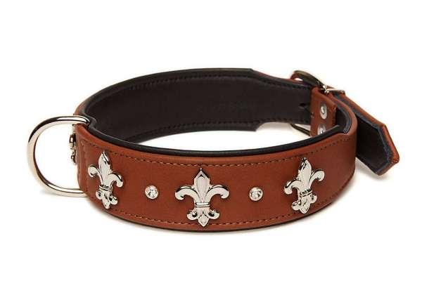 Hundehalsband Florenz - Rehbraun
