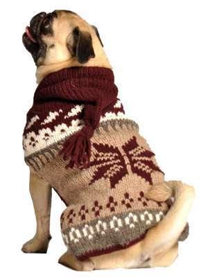Hundepullover Rustic Snowflake