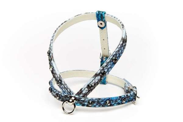 Hundegeschirr Shiny Petit - Blue Snake Smokey